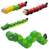 Деревянная игрушка Змейка Развивющая, MD 1194, 006983