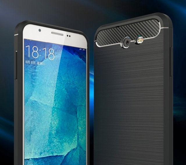Противоударный бампер Primo Carbon Fiber Series для Samsung Galaxy J7