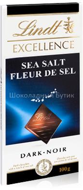 Шоколад Lindt EXCELLENCE, чёрный с Морской Солью, 100г.