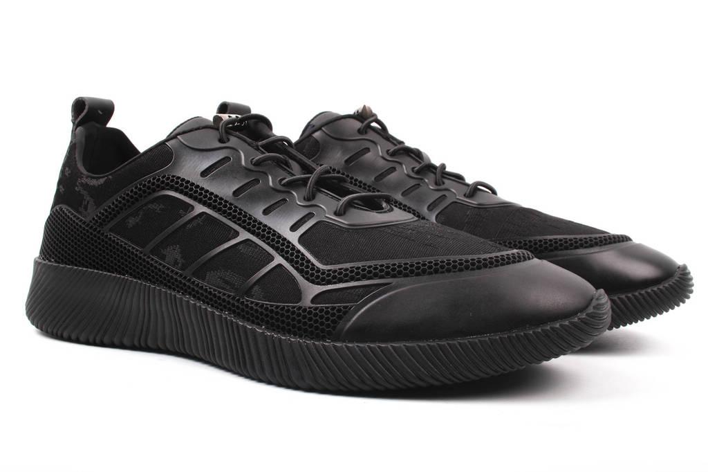 Туфли мужские Cosottinni текстиль, цвет черный (мокасины, платформа, весна\осень)