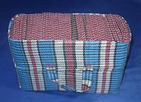 Хозяйственная сумка 370/440/160 мм тканевая в клетку на три 3-литровых банки, фото 1