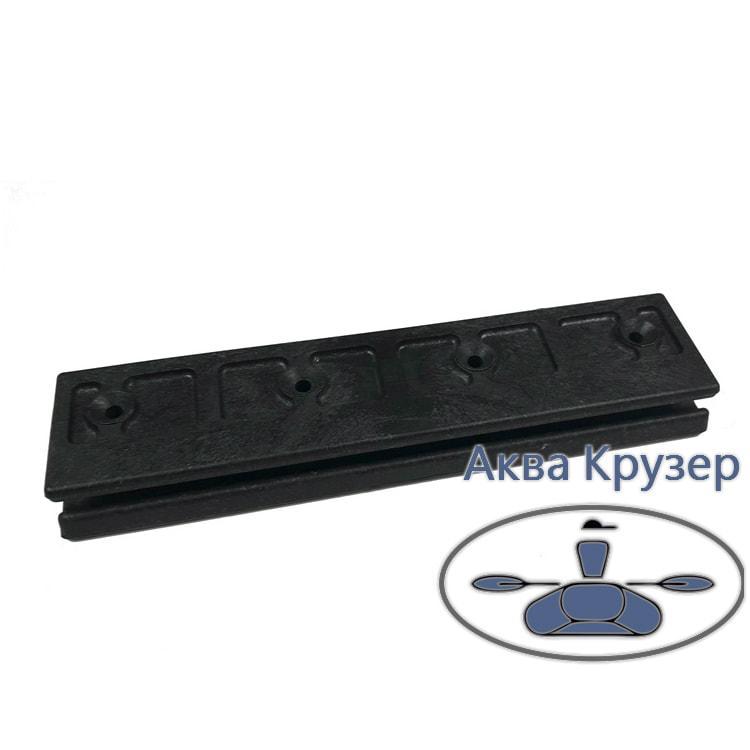 Опора для сидіння (лікпаз) рухома для надувних човнів ПВХ, колір чорний