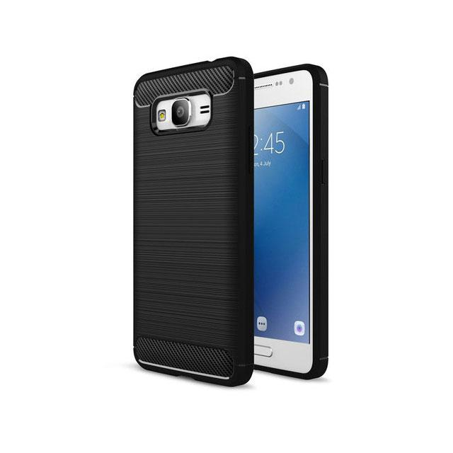 Противоударный бампер Primo Carbon Fiber Series для Samsung Galaxy J2 Prime (SM-G532F) - Black