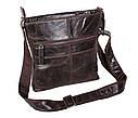 Мужская кожаная сумка Dovhani LA9017-3 Коричневая, фото 4