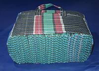 Клетчатая хозяйственная сумка 380/300/140 мм без молнии на полторы 3-литровых банки