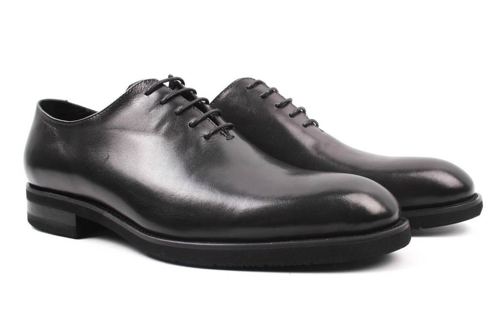 Туфли мужские Salenor натуральная кожа, цвет черный (мокасины, каблук, весна\осень)