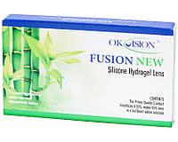 Линзы контактные силикон-гидрогелевые  на 1 месяц Fusion new Ok Vision