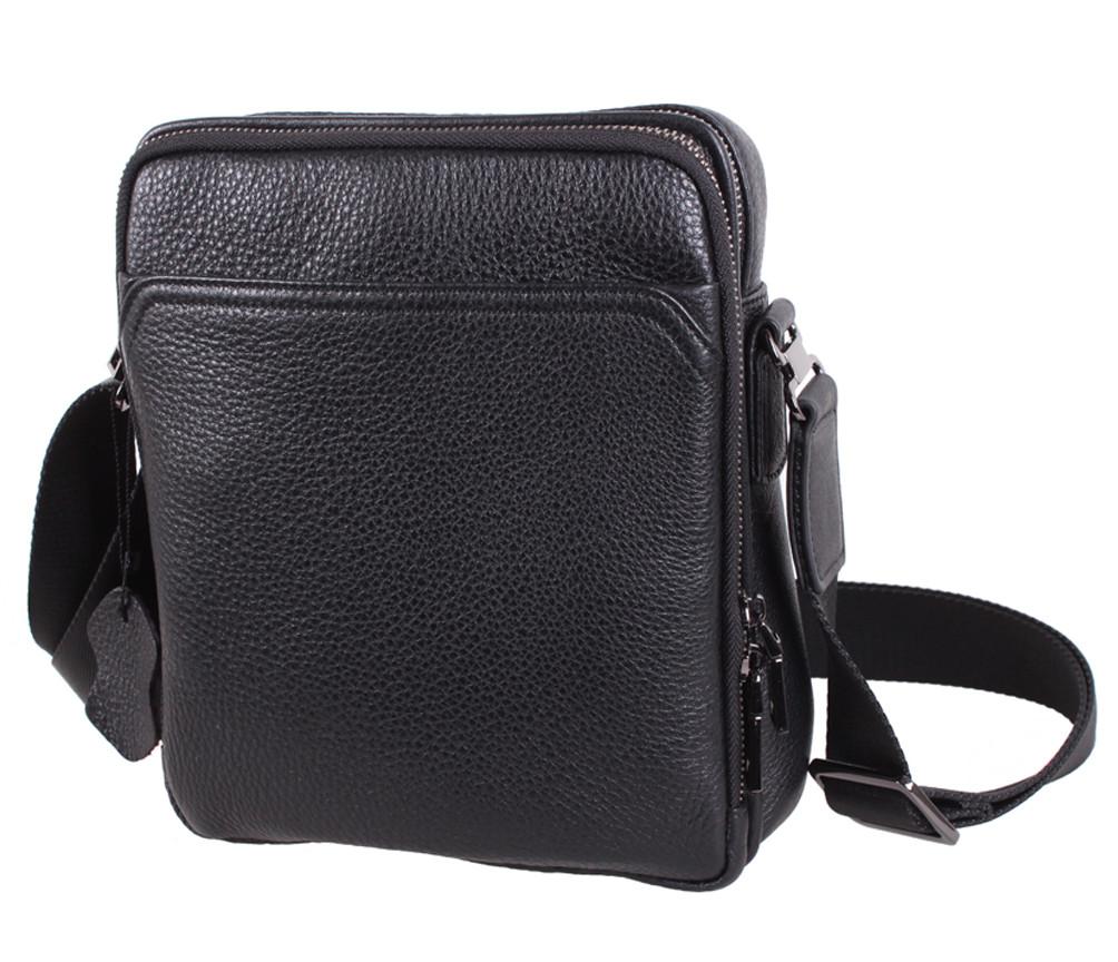 Мужская кожаная сумка Dovhani DL411-4 Черная