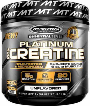 Platinum 100% Creatine Powder MuscleTech 400 g, фото 2