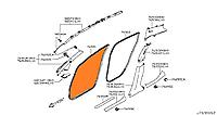 Уплотнитель дверного проема передний левый и правый Nissan Leaf ZE0 / AZE0 (10-17) 76921-3NA0A