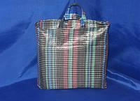 Хозяйственная сумка клетчатая 320/330/150 мм без застёжки на две 3-литровые банки