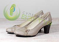 Кожаныеженские туфли Leal 4621 беж  39 размеры