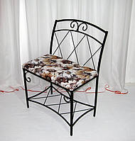 Кованый диван-банкетка с полкой и спинкой, фото 1