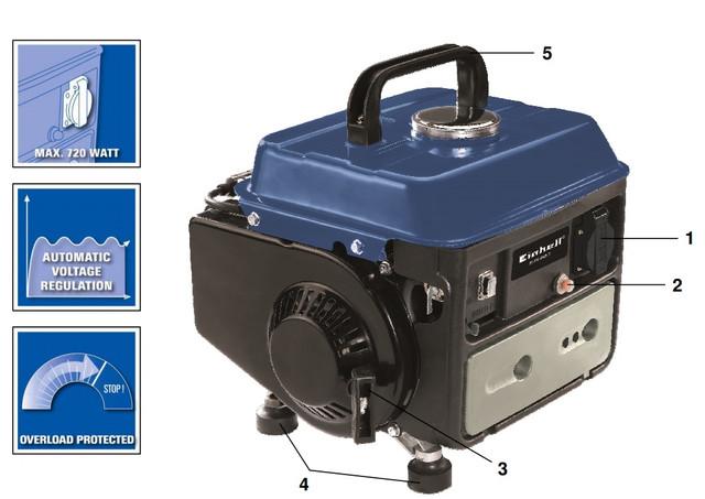 Особенности генератора бензинового Einhell BT-PG 850: