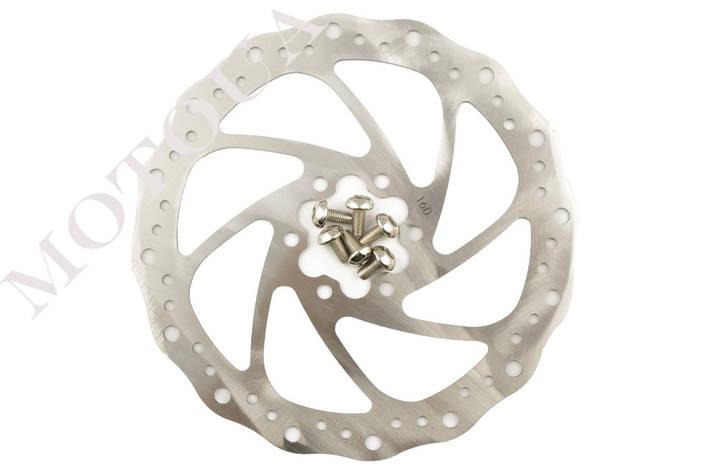 Диск тормозной велосипедный (mod:3, Ø160mm, на 6 болтов) FEIX, фото 2