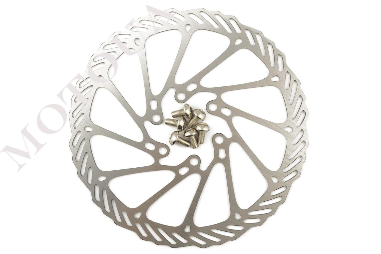 Диск тормозной велосипедный (mod:2, Ø160mm, на 6 болтов) FEIX