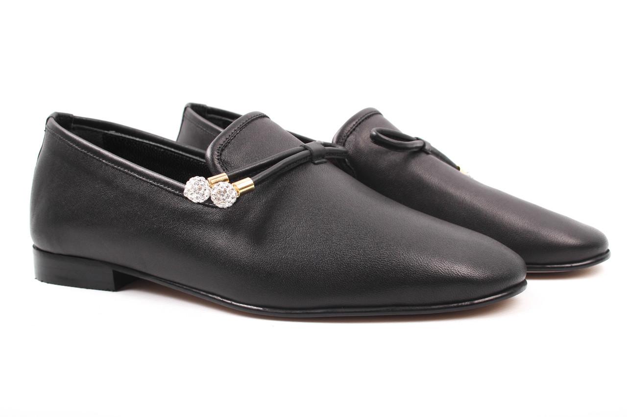 Туфли женские DaCoTa натуральная кожа, цвет черный (каблук, стильные, комфорт, Турция)