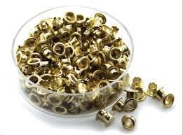 Люверсы для календарей 4,5 мм., золото, ручной, 250 шт.