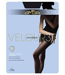 Колготки OMSA velour 30 2 (S), NERO (черный), 30
