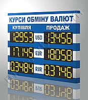 Табло курсов валют 800х600 мм