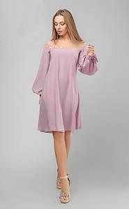 Изысканное шелковое платье с сеткой