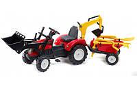Трактор с прицепом и двумя ковшами Falk 2081RM