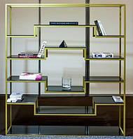 Стеллаж Chanel, 2100x1600x400, 5 полок из стекла