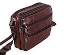 Мужская кожаная сумка BON2355 коричневая, фото 2