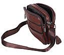Мужская кожаная сумка BON2355 коричневая, фото 6
