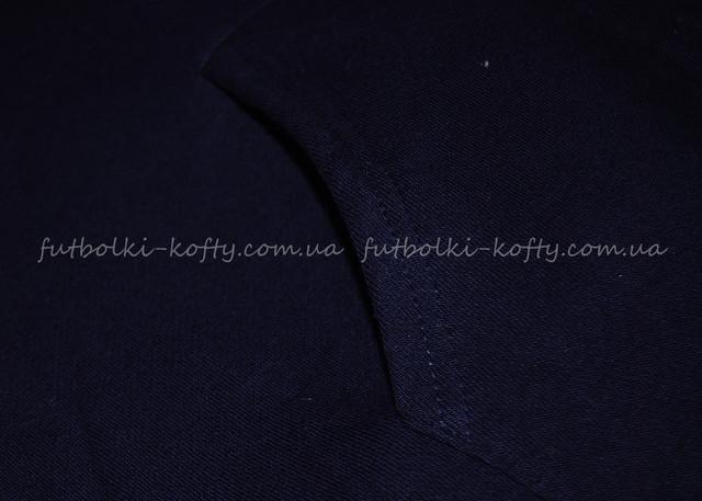Глубоко тёмно-синяя   женская премиум толстовка на замке