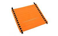 Координационная лестница дорожка для тренировки скорости, 12 перекл., 6мx0,52мx2мм, оранжевый (C-4606-(or))