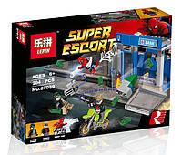Конструктор Lepin 07089 Супергерои Ограбление банкомата (аналог Lego Super Heroes 76082)
