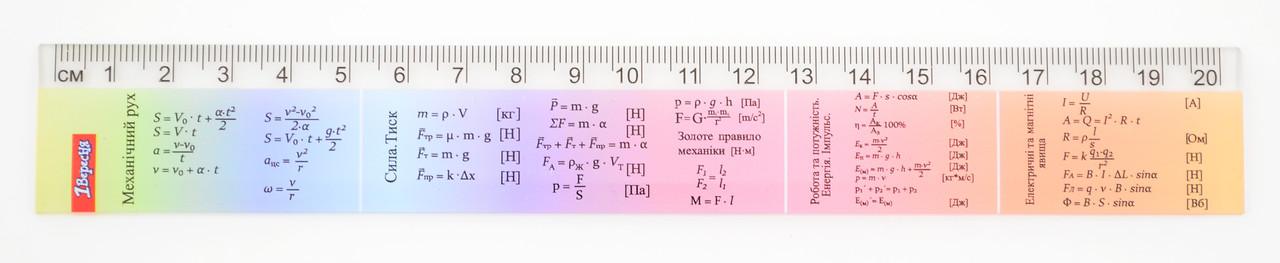 """Лінійка 20 см """"Фізика"""""""