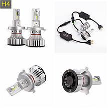 Светодиодная лампа F2 цоколь H4, CREE GSP 6500К, 12000 lm 36W, 9-36В, фото 2