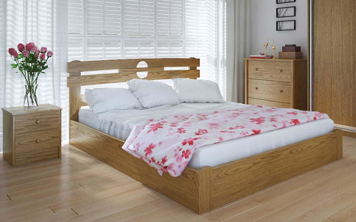 Деревянная кровать Кантри с механизмом 90х190 см ТМ Meblikoff