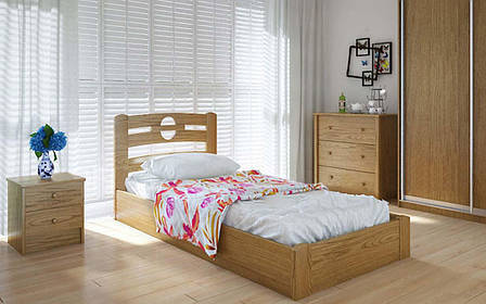 Деревянная кровать Кантри с механизмом 90х190 см ТМ Meblikoff, фото 2