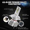 Світлодіодна лампа F2 цоколь H4, CREE GSP 6500К, 12000 lm 36W, 9-36В, фото 3