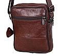 Мужская кожаная сумка BON2366 коричневая, фото 5