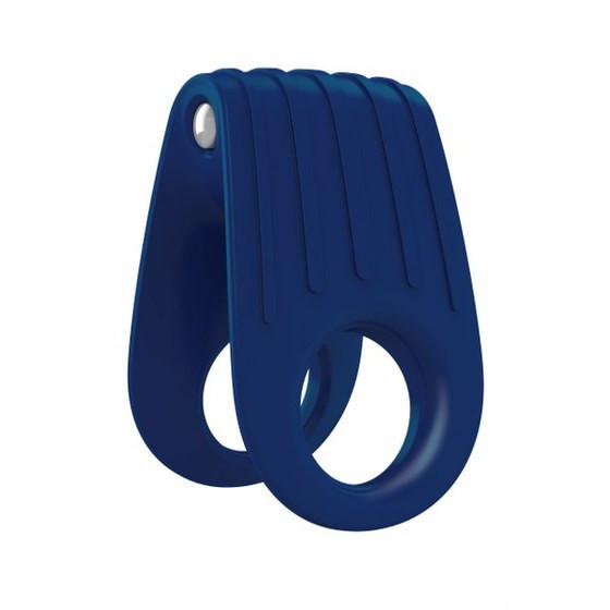 Эрекционное кольцо с вибрирацией OVO B12 Vibrating Ring Blue
