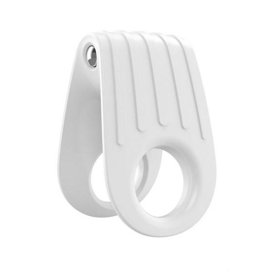 Эрекционное вибро-кольцо OVO B12 Vibrating Ring White