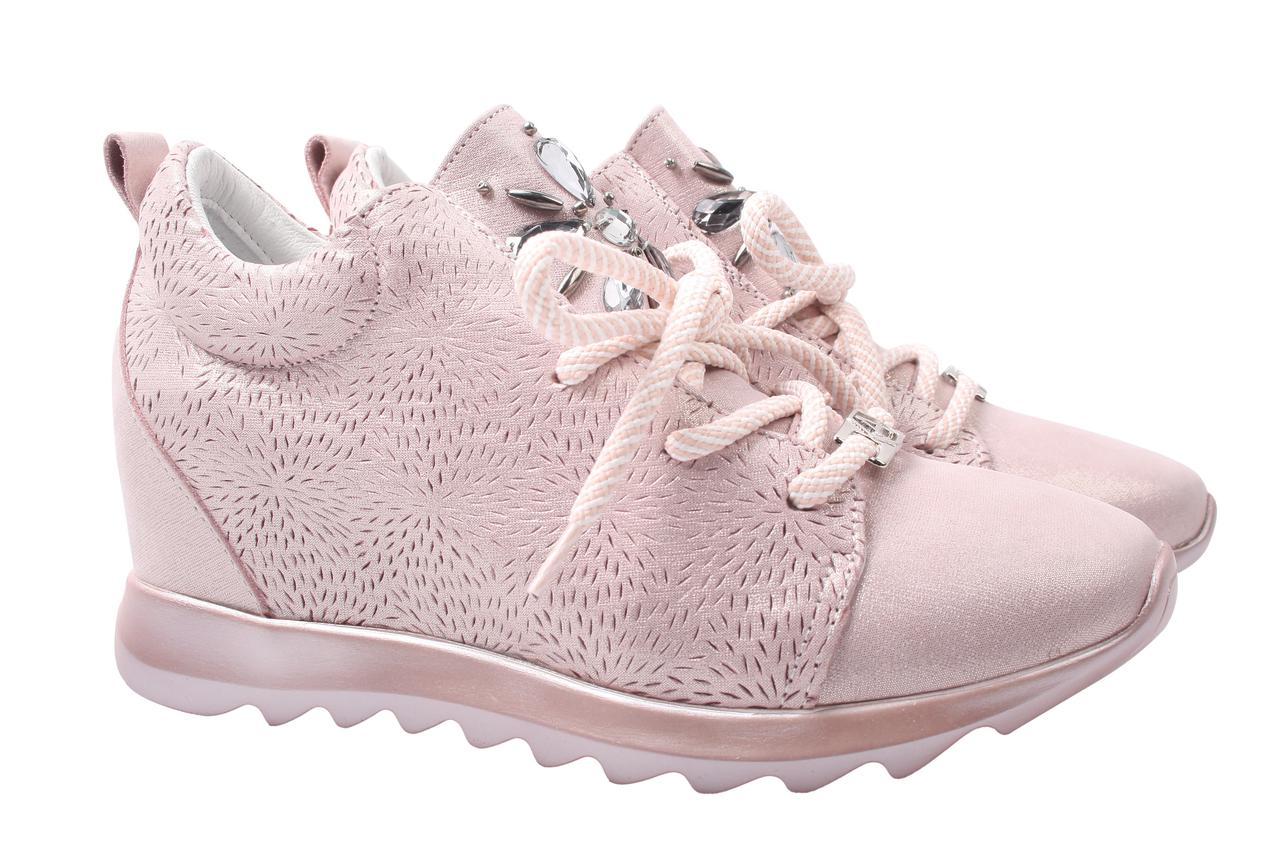 Туфли сникерсы женские Alpino натуральная кожа, цвет пудра (танкетка, комфорт, стильные, Турция)