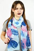 Стильный женский шарф Єльфрида (индиго)