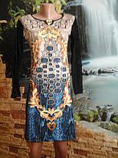Платье турецкое с вставками сеткой, фото 3