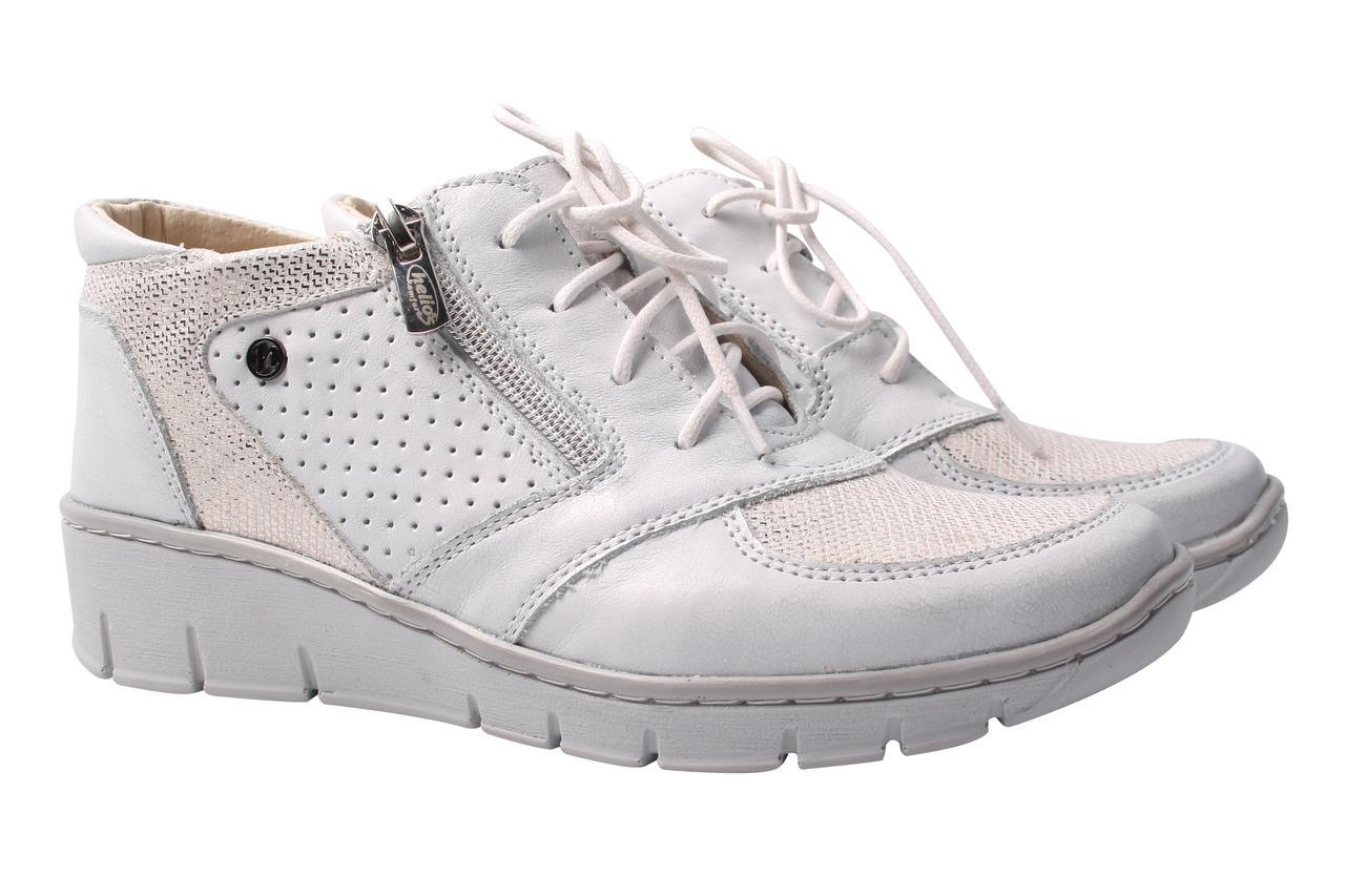 Туфли женские Helios спортивного типа, натуральная кожа, цвет белый (платформа, комфорт, стильные, Польша)