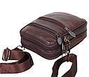 Мужская кожаная сумка BON9950 коричневая, фото 6