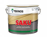Краска щелочестойкая TEKNOS SAKU для цоколя и бетона 9 л