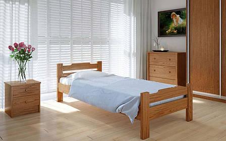 Деревянная кровать Сакура 90х190 см ТМ Meblikoff, фото 2