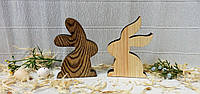 Фигурка Зайчик-3, 9см, сосна