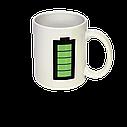 Чашка хамелеон Батарейка (белая), фото 3