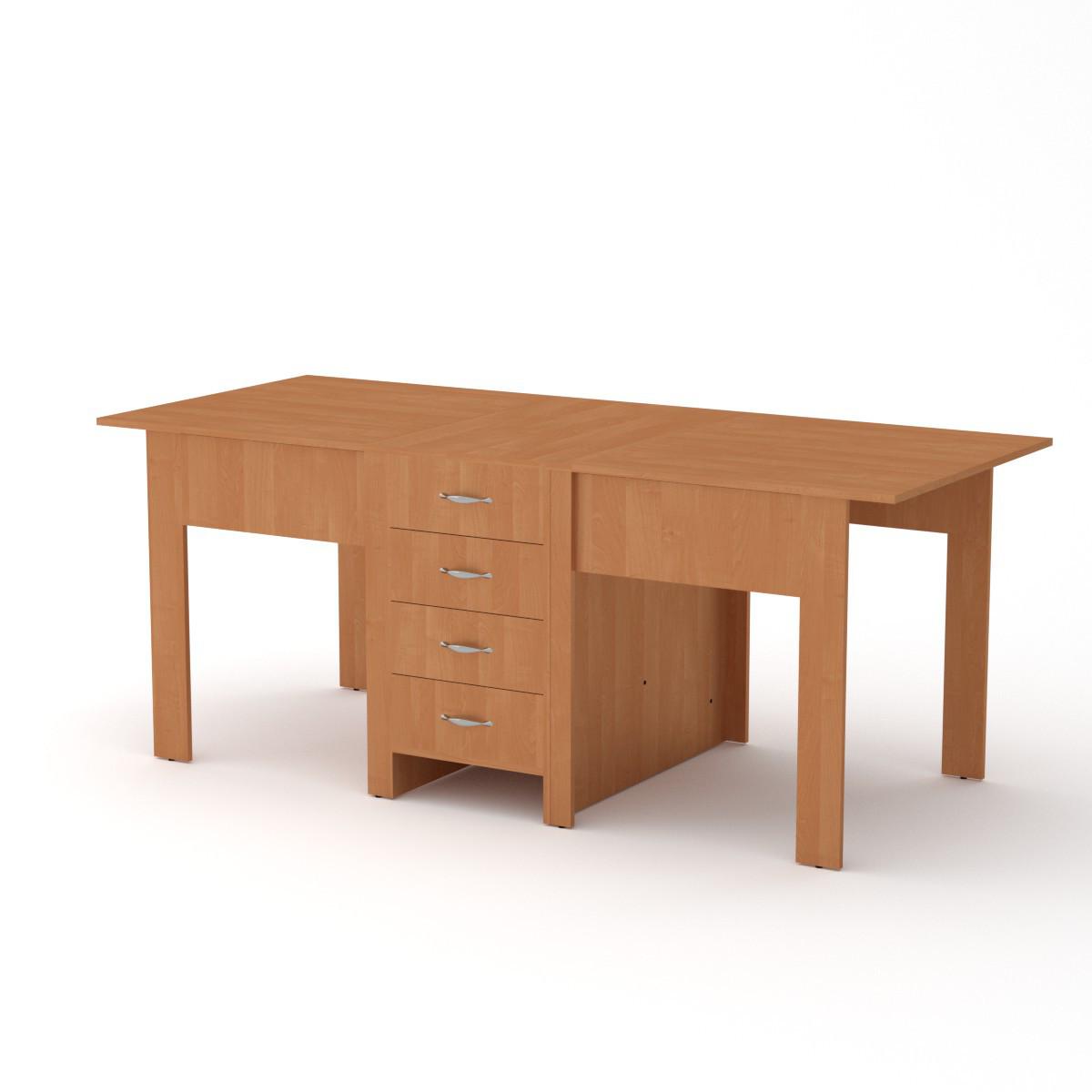 Стол книжка 3 ольха Компанит (190х80х75 см)